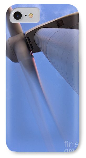 Closeup Of A Wind Turbine Phone Case by Jeremy Woodhouse