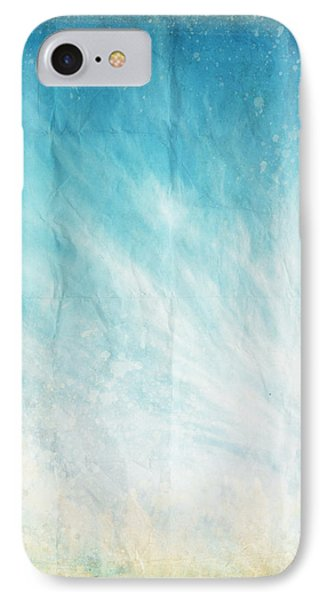 Cloud And Blue Sky On Old Grunge Paper Phone Case by Setsiri Silapasuwanchai