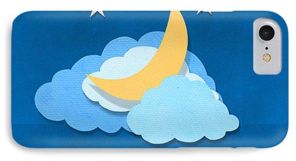 Cloud Moon And Stars Design Phone Case by Setsiri Silapasuwanchai