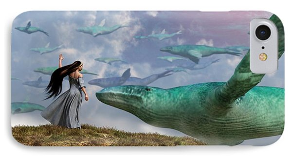 Cloud Whales IPhone Case by Daniel Eskridge