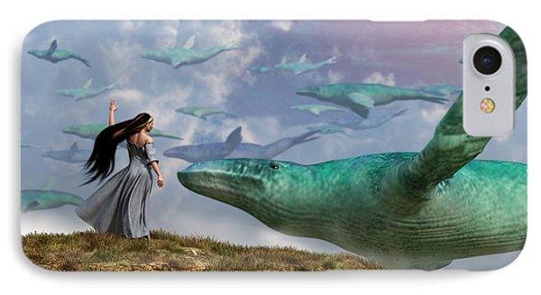 Cloud Whales Phone Case by Daniel Eskridge