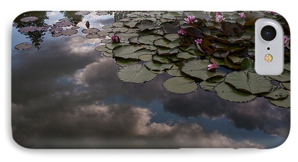 Clouded Pond IPhone Case by Mike Reid