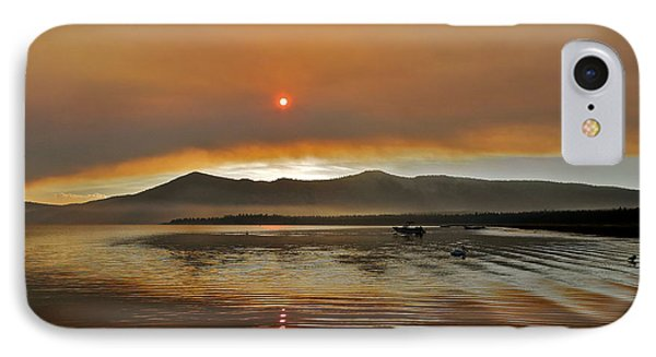 Clouds And Sun In A Smoky Sky IPhone Case by Kirsten Giving