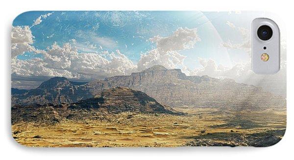 Clouds Break Over A Desert On Matsya Phone Case by Brian Christensen