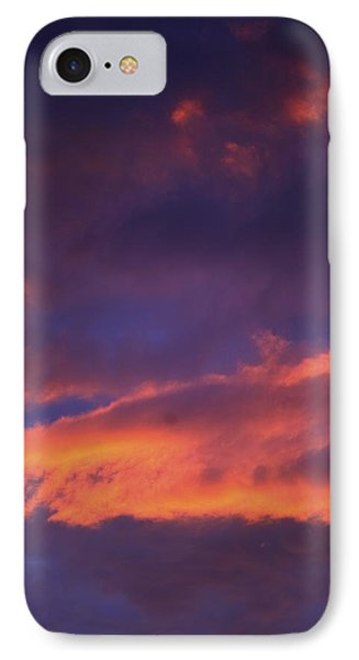 Clouds In Sky With Pink Glow IPhone Case by Richard Wear
