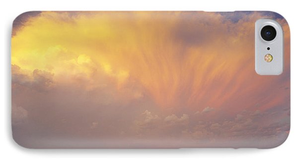 Clouds Over Canola Harvest, Saint Phone Case by Yves Marcoux