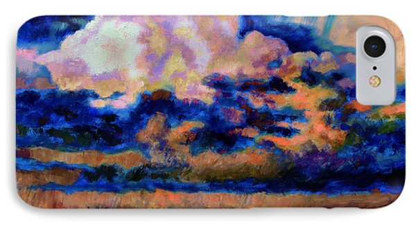 Clouds Over Country Road Phone Case by John Lautermilch