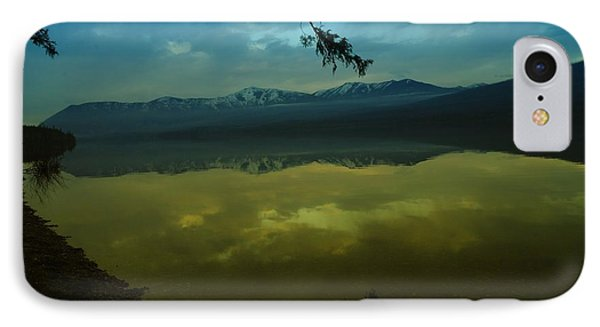 Clouds Trying To Dance In Still Water Phone Case by Jeff Swan