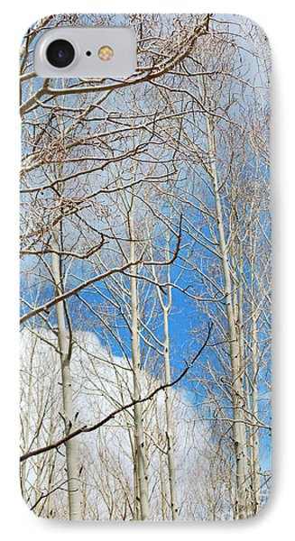 Cloudy Aspen Sky IPhone Case by Donna Greene