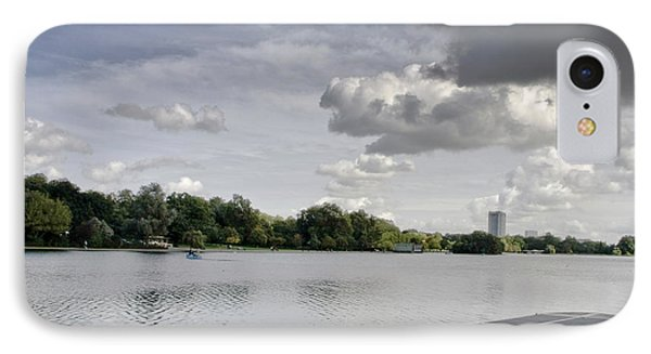 IPhone Case featuring the photograph Cloudy Hyde Park by Maj Seda