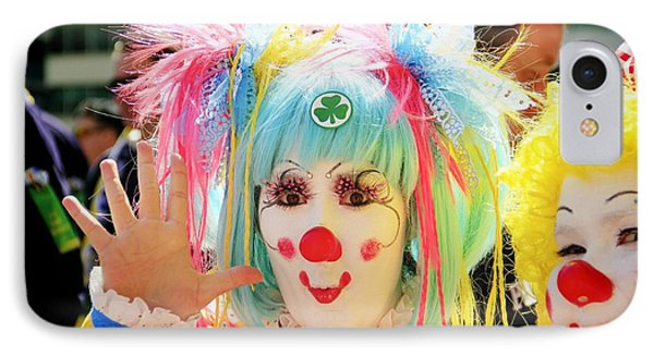 IPhone Case featuring the photograph Cloverleaf Clown by Alice Gipson