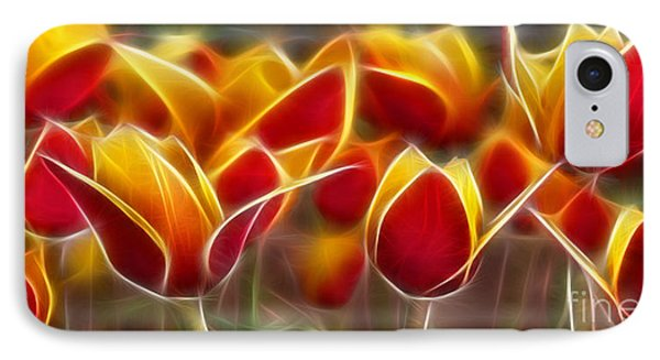 Cluisiana Tulips Fractal IPhone Case by Peter Piatt