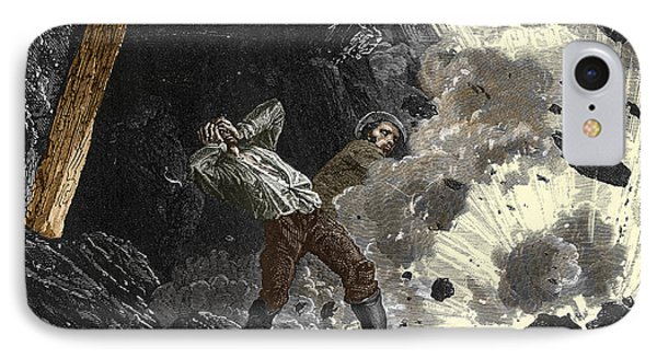 Coal Mine Explosion, 19th Century Phone Case by Sheila Terry