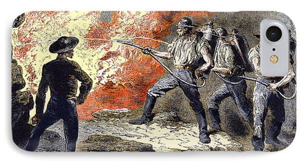 Coal Mine Fire, 19th Century IPhone Case