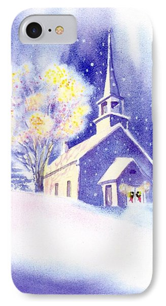 Coastal Church Christmas Phone Case by Joseph Gallant