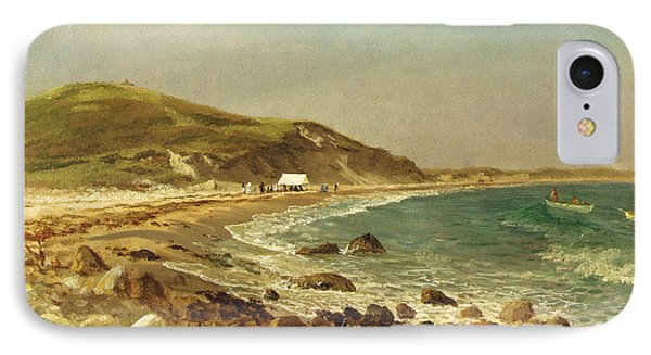 Coastal Scene IPhone Case by Albert Bierstadt