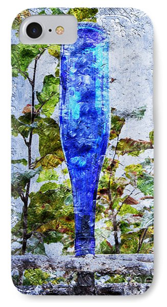 Cobalt Blue Bottle Triptych 1 Of 3 Phone Case by Andee Design