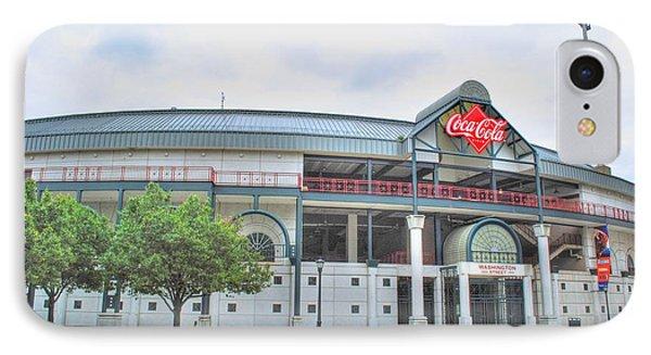 IPhone Case featuring the photograph Coca Cola Field  by Michael Frank Jr