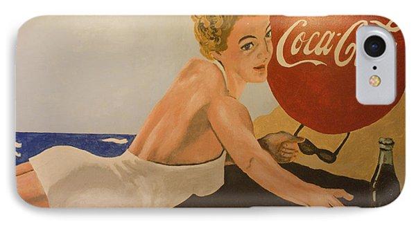 Coca Cola  Vintage Sign Phone Case by Bob Christopher