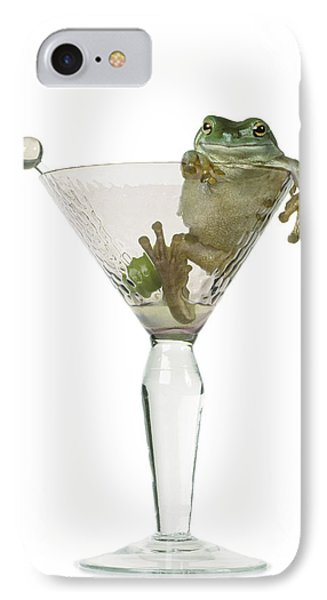 Cocktail Frog Phone Case by Darwin Wiggett