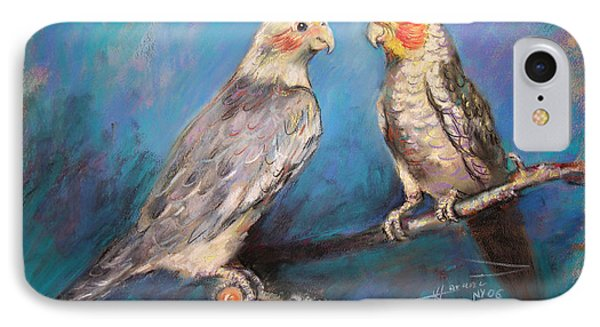 Coctaiel Parrots IPhone Case by Ylli Haruni