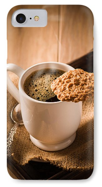 Coffee And Biscuit IPhone Case by Amanda Elwell