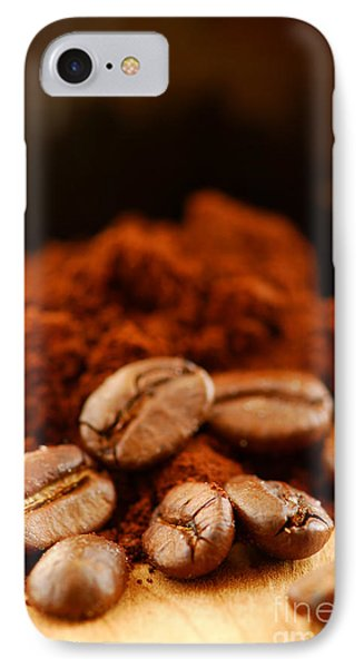 Coffee Beans And Ground Coffee Phone Case by Elena Elisseeva