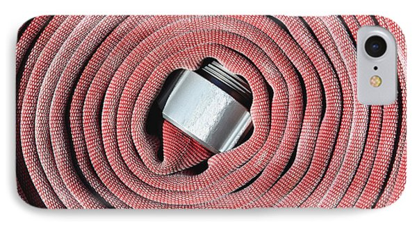Coiled Fire Hose Phone Case by Skip Nall