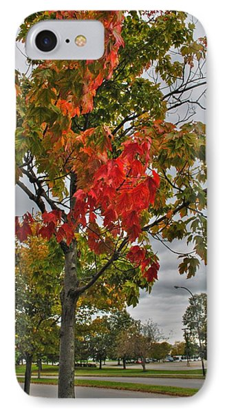 IPhone Case featuring the photograph Cold Autumn Breeze  by Michael Frank Jr
