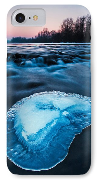 Cold Blue Phone Case by Davorin Mance