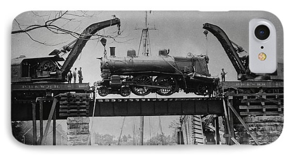 Collapsed Bridge And Train Recovery Phone Case by M E Warren and Photo Researchers
