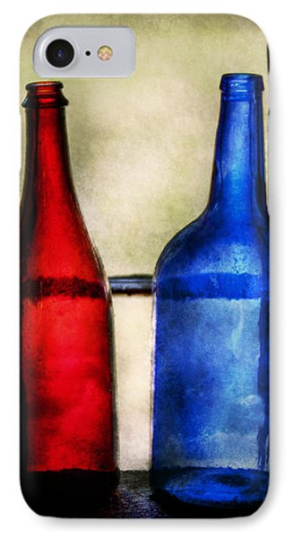 Collector - Bottles - Two Empty Wine Bottles  Phone Case by Mike Savad