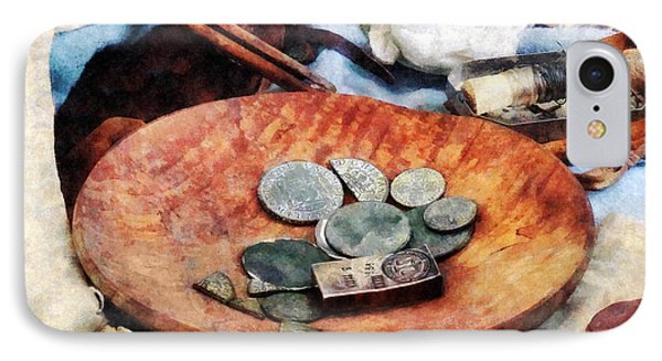 Colonial Coins Phone Case by Susan Savad