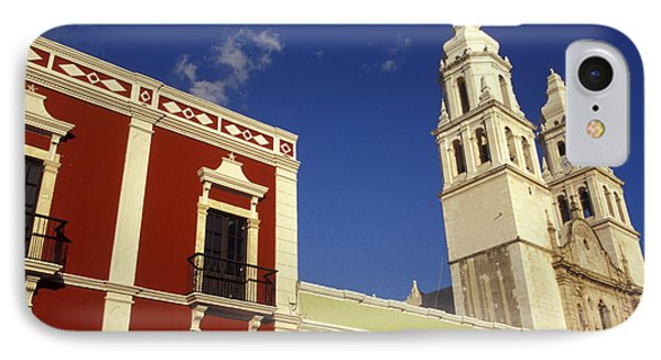 IPhone Case featuring the photograph Colonial Colors Campeche Mexico by John  Mitchell