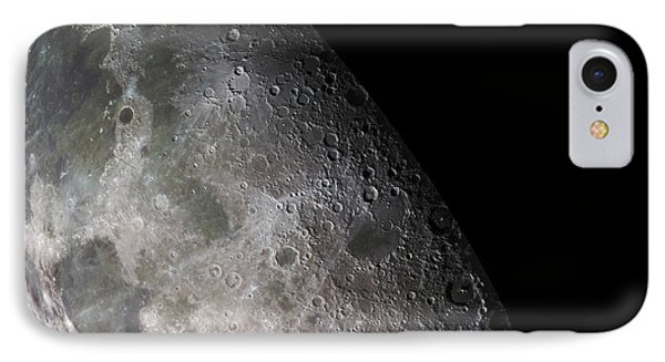 Color Mosaic Of The Earths Moon Phone Case by Stocktrek Images