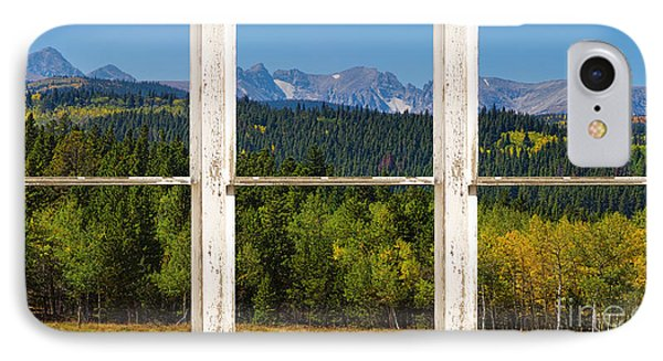 Colorado Indian Peaks Autumn Rustic Window View Phone Case by James BO  Insogna