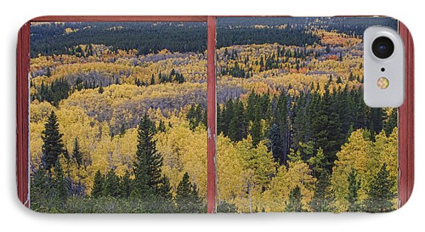 Colorado Red Rustic Picture Window Frame Photo Art Phone Case by James BO  Insogna