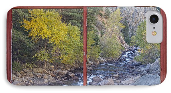 Colorado St Vrain Canyon Red Rustic Picture Window Frame Photos  Phone Case by James BO  Insogna