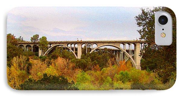 IPhone Case featuring the digital art Colorado Street Bridge No. 1 by Timothy Bulone