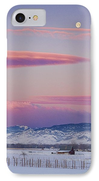 Colorado Winter Moon And Sunrise Phone Case by James BO  Insogna