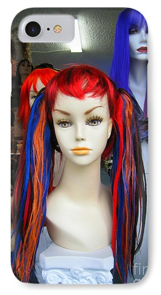 Colored Hairdo IPhone Case by John King