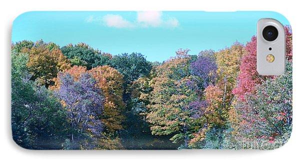 Colored Trees Phone Case by Dyana Rzentkowski