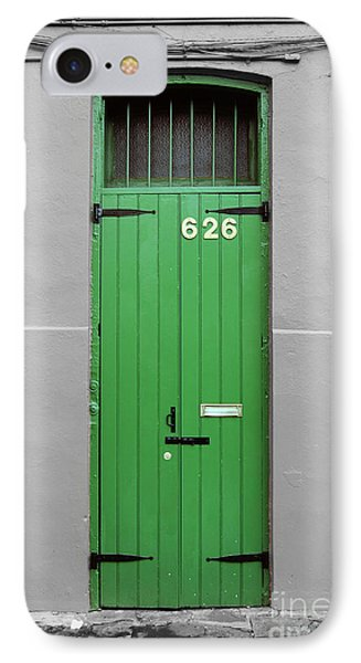 Colorful Arched Doorway French Quarter New Orleans Color Splash Black And White IPhone Case by Shawn O'Brien