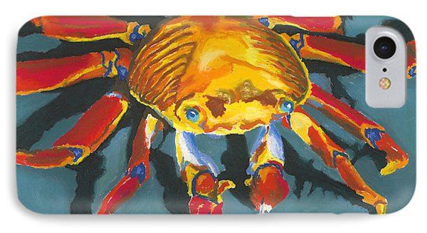 Colorful Crab With Border Phone Case by Stephen Anderson