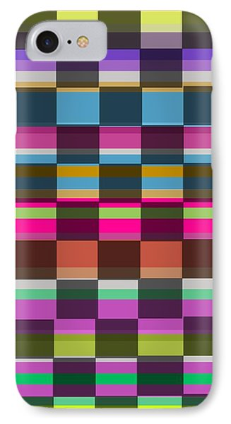 Colorful Cubes IPhone Case by Louisa Knight