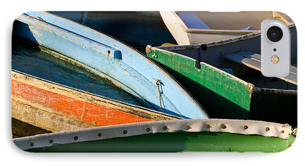 Colorful Dinghies In Rockport Massachusetts IPhone Case by Michelle Wiarda