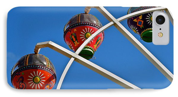 Colorful Ferris Wheel In Glenelg IPhone Case by Kirsten Giving