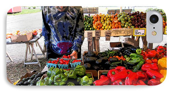 IPhone Case featuring the photograph Colorful Fruit And Veggie Stand by Kym Backland