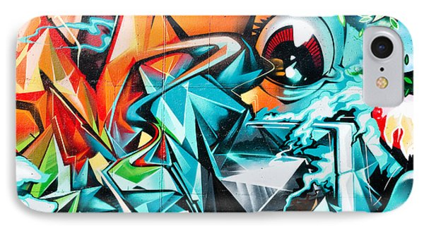 Colorful Graffiti Fragment IPhone Case