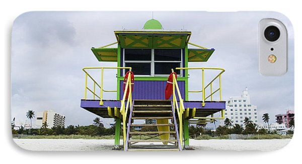 Colorful Lifeguard Station Phone Case by Jeremy Woodhouse